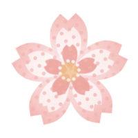 ドットが可愛い桜の無料イラストです。