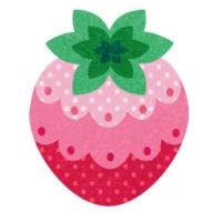 フリルがおしゃれなイチゴの無料イラストです