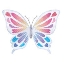 白いアゲハチョウの無料イラストです。