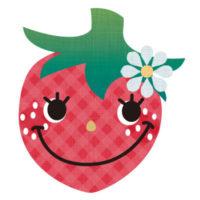 お茶目なイチゴのキャラクターの無料イラストです。