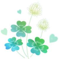 しろつめくさ(クローバー)のお花の無料イラストです。