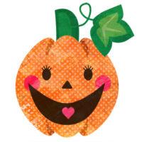 ハロウィンのかぼちゃ、ジャックオーランタンの無料イラストです。