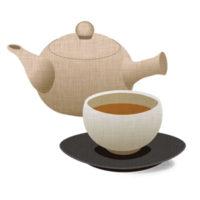ほうじ茶と急須の無料イラストです。