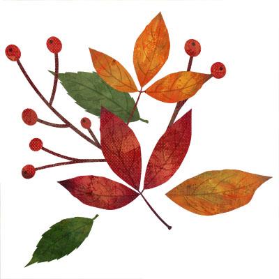 カラフルな紅葉のおしゃれな無料イラストです。