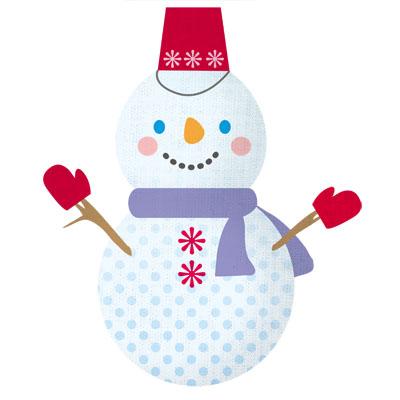 フラットデザインにぴったりな、雪だるまの無料イラストです。