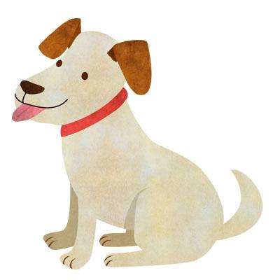 お座りしている犬のイラストです。