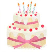 2段のケーキのイラスト