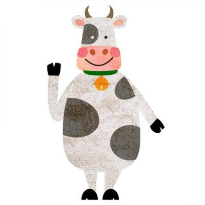 立ち姿の牛のイラスト