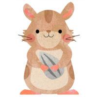 可愛いハムスターキャラクター(ねずみ)のイラストです。