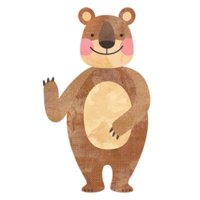 とぼけ顔のクマのイラストです。